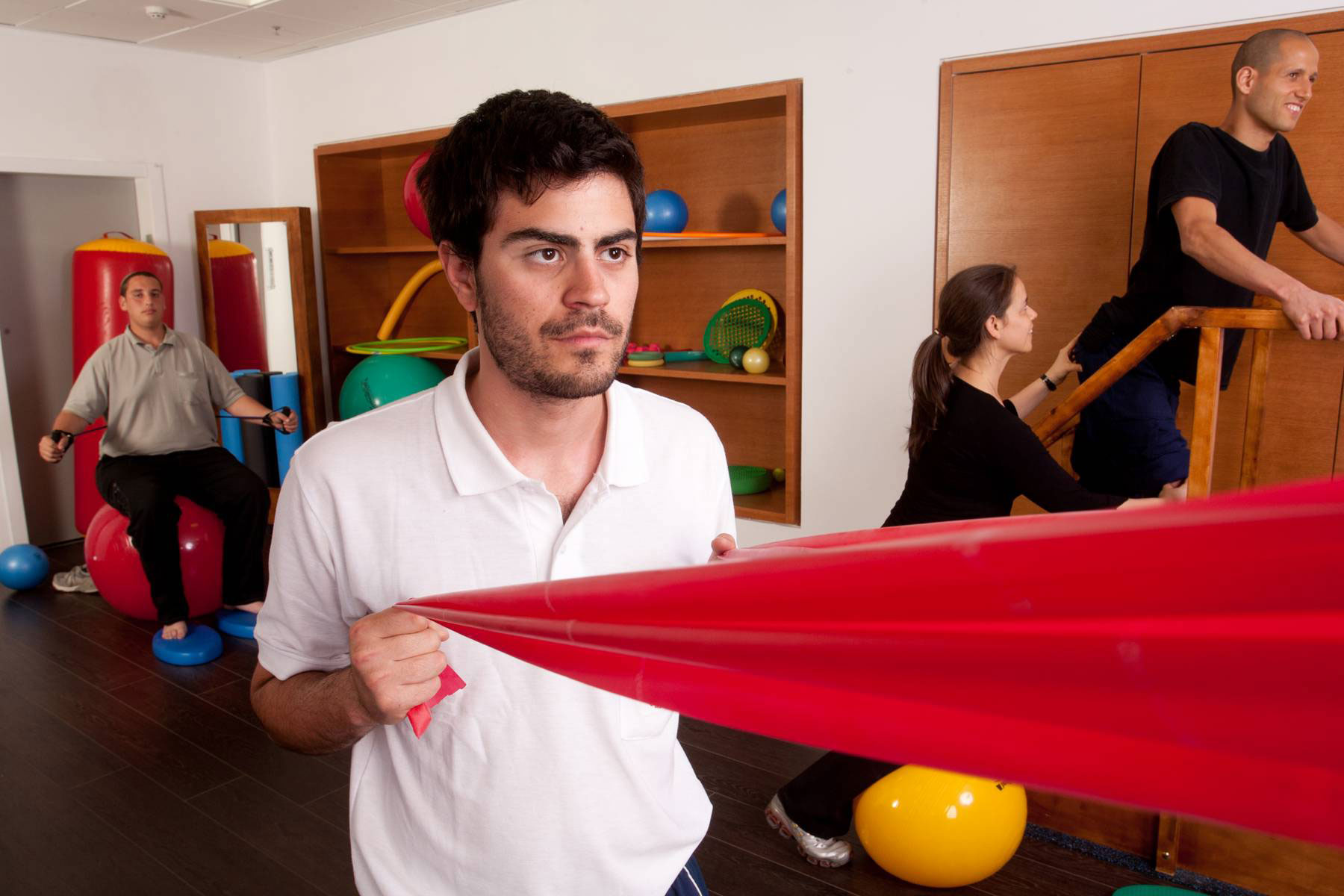 Physical therapy at Beit Halochem in Israel