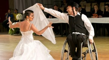 Wheelchair dancers Adam and Natlia
