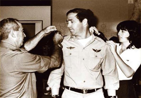 Colonel Ilan Egozi being conferred the rank of colonel
