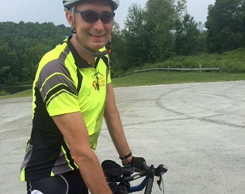 Dr. Seinuk, Annual Vermont Bike Ride event founder.