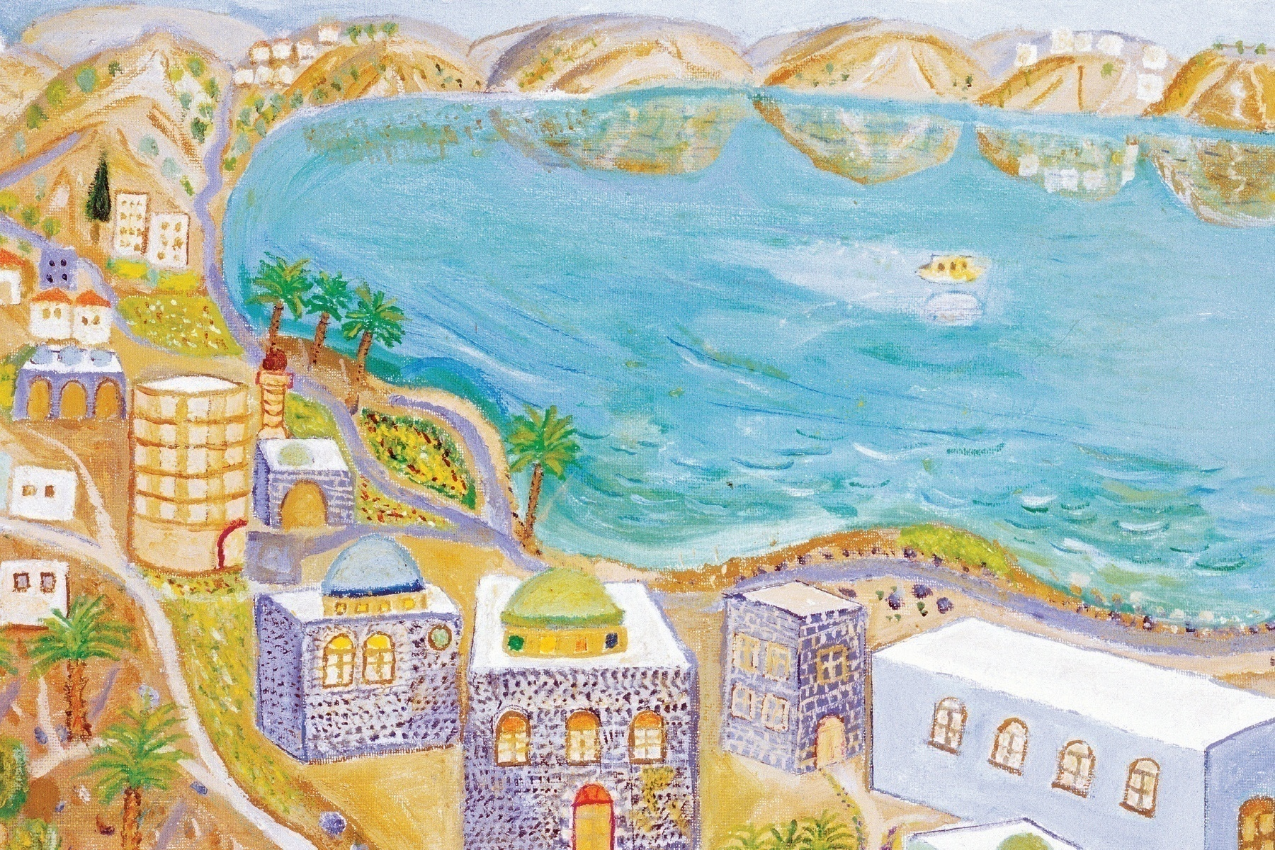 """Sea of Galilee-Tiberias"" by David Shalom: ""I love Tiberias. I like to look at the Sea of Galilee, it is so peaceful. I think it cures me."""