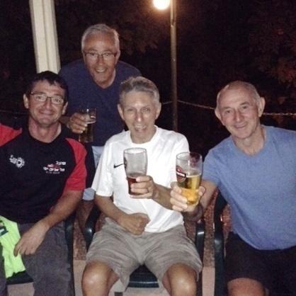 Dennis Brans with friends