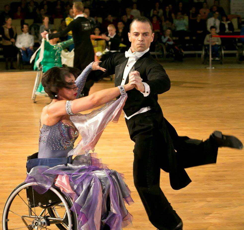 Wheelchair dancers Gili and Anna