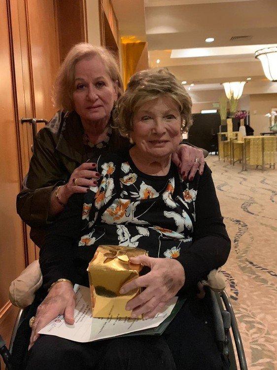Ella Levine with honoree Judith Hi.