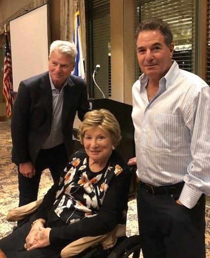 Judy Hirsch with sons Dr. Cary Hirsch and James Hirsch.