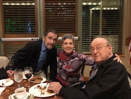 Mort Karper (L) and guests.