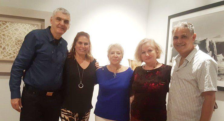 (L-R) Dr. Moshe Shemma, Lisa Levi, Haviva Ben-Ness, Ella Levine, Barry Levi.